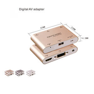 LYBALL Av-Adapter Tablet Audio iPhone Samsung HDTV VGA To HDMI for X 8-7/6s-Plus MAC