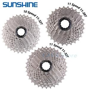 Image 1 - SUNSHINE Road Bike Freewheel 11 25/28/32/34/36T Bicycle Flywheel Steel 8/9/10/11/12S Speed Cassette for Deore M6000 Shimano SRAM