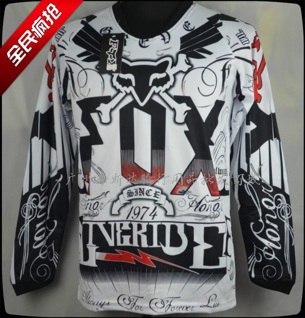 Camiseta FOX absorção da transpiração nova motocicleta off-road equitação T-shirt Camisetas downhill T-shirt por atacado