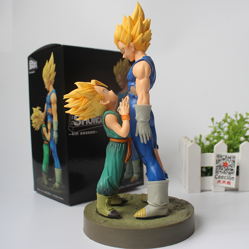 Classic Dragon Ball Z Super Saiyan Vegeta & Trunks PVC Action Figures Model Doll 21cm dragon ball z black vegeta trunks pvc action figure collectible model toy super big size 44cm 40cm
