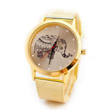 NEW Scorching Basic Gold Animal Geneva Quartz Prime quality Stainless Metal Band Wrist Watch Mesh Luxurious Jewellery & Watches