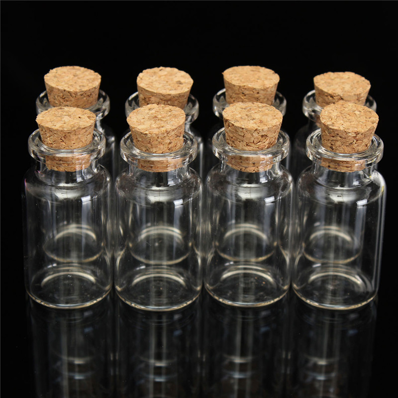 28a49379189c New 10pcs 45x24mm 12ml Small Cute Mini Cork Stopper Glass Bottles Vials  Jars Containers Small Wishing Bottle Glass Craft-in Bottles, Jars & Boxes  from ...