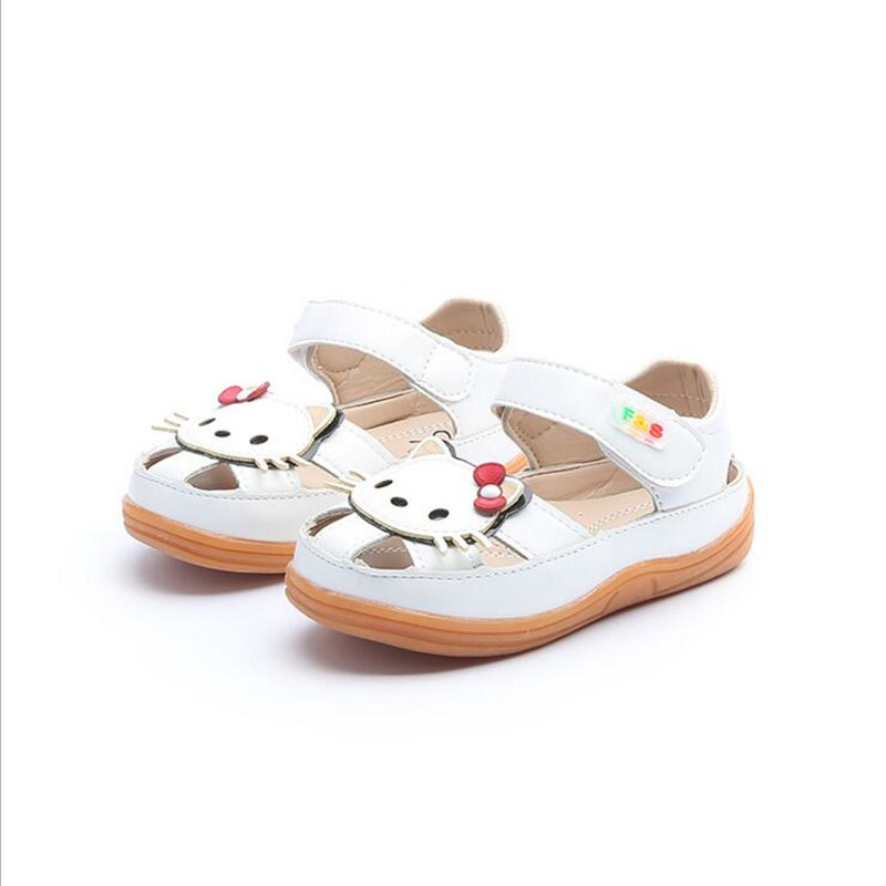 25% Summer cow muscle sandals Children girls Hook&Loop sandals with cute hello kitty 3colors 21-30 1155 TX05