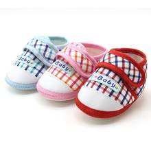 Baby Boys Girls shoes Suit for 3-12Month Newborn Baby Soft Sole Prewalker Warm Casual Flats Shoes Cotton Fabric 18May7(China)