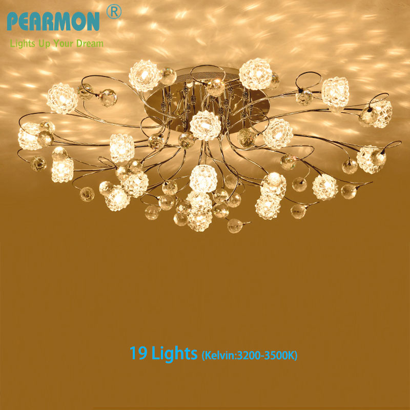 Luxury Romantic Crystal Ceiling Lamp American European Flower Style Remote Control LED G4 Light Bedroom Restaurant Living Room fashion american style room remote control oak electric fan ceiling lamp decorate in cafe restauest study room inn balcony bar