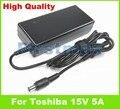15 В 5А 75 Вт ноутбук адаптер ПЕРЕМЕННОГО ТОКА зарядное устройство для Toshiba Satellite M55-S325 M55-S329 M55-S331 Satellite P100 P105 Pro 1800 4200 4220
