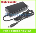 15V 5A 75W laptop AC adapter charger for Toshiba Satellite M55-S325 M55-S329 M55-S331 P100 P105  Satellite Pro 1800 4200 4220