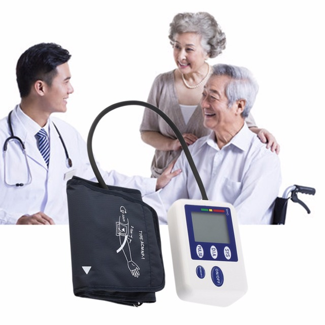 High Quality Fully Automatic LCD Digital Upper Arm Style Blood Pressure Monitor Care Health