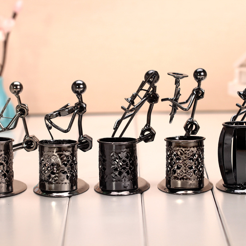Modern Style Craft Musical Instruments Design Metal Desktop Pen