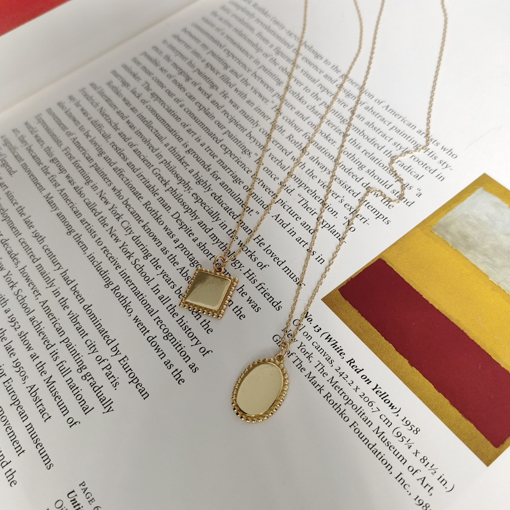 Glorieus 1 Pc Authentieke 925 Sterling Zilver Golds Glossy Oval/vierkante Met Kralen Partten Hanger Ketting Fijne Sieraden Vrouwen Tlx389
