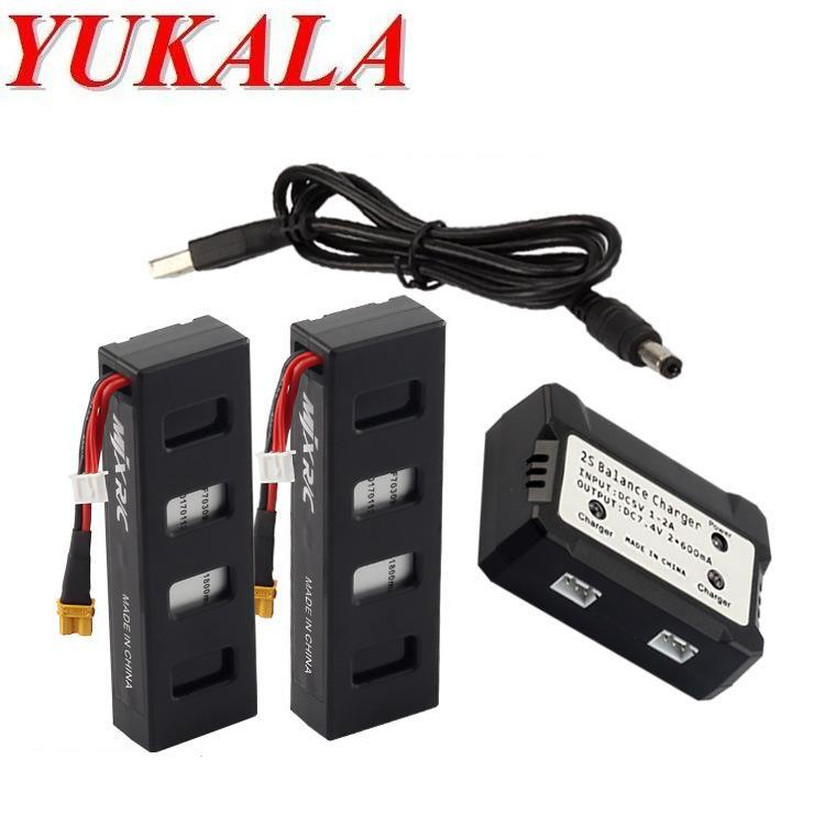 YUKALA B3 RC quadcopter RC drone 7.4V 1800mAh Li-polymer battery*2pcs +balancer charger free shipping yukala ft012 2 4g rc racing boat hq734 rc car 11 1v 2700 mah li polymer battery