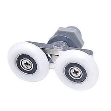 1pcs 19/23/25/27mm glass sliding door Swinging Double wheel Pulley Bearing Rollers Runners Wheels For Shower Cabin Accessories(China)