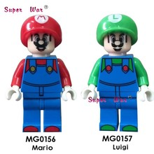 Single Building Blocks Super Mario Bros Luigi Dragon Ball Z Torankusu Cartoon Series model brick kids toys for children(China)