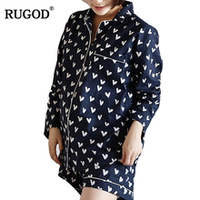 RUGOD  2019 Spring Long Sleeve Floral Pajamas For Women Hot Sale Fashion With Shorts Female pyjamas pour femmes