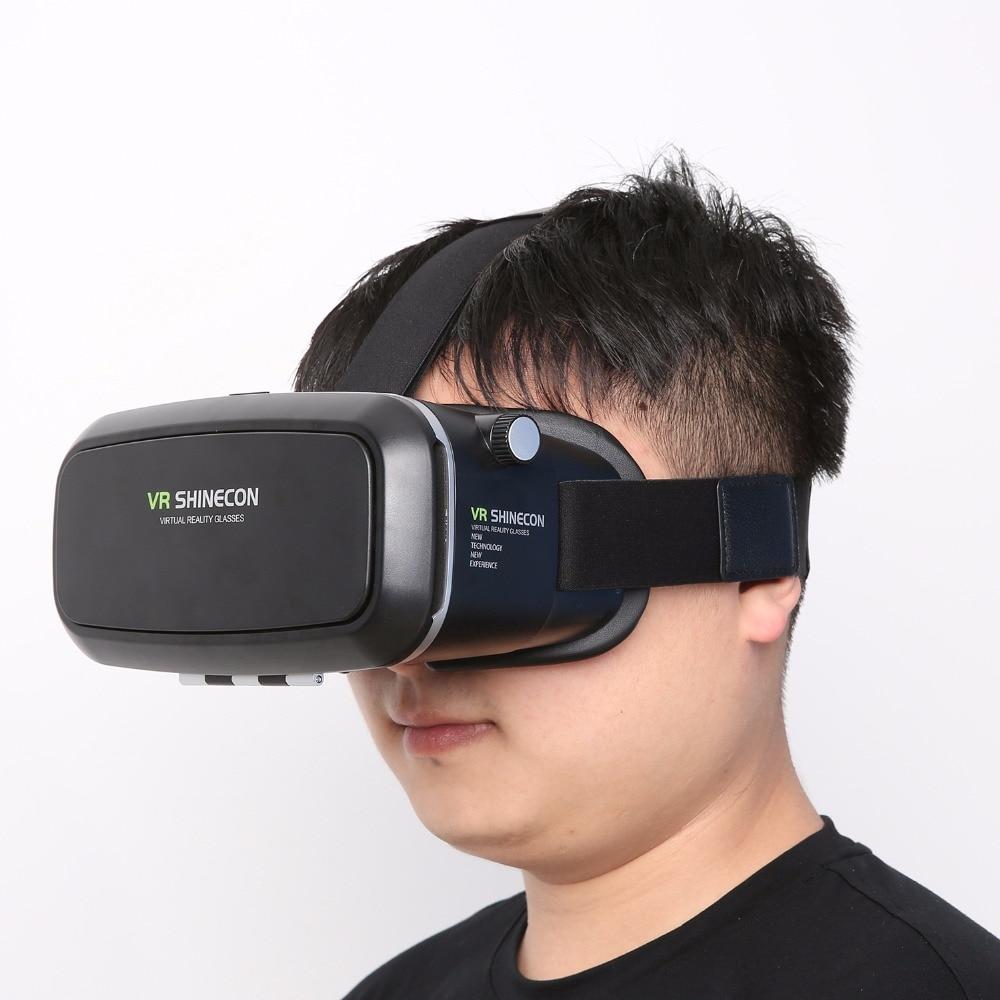 VR Shinecon Realidad Virtual 3D Película Juego Inteligente 3D Gafas Casco 3 D VR