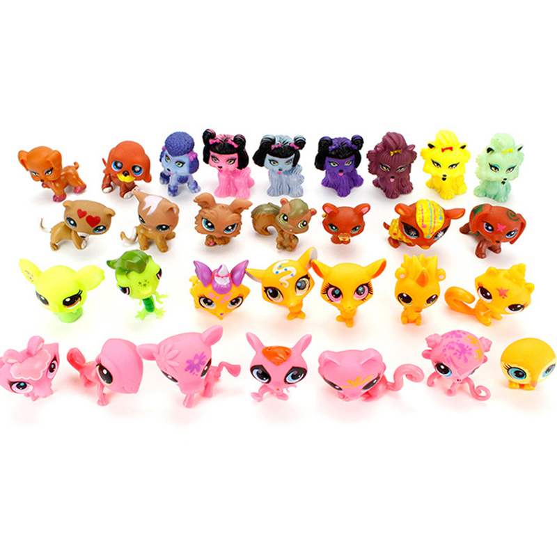 New Arrival 5Pcs/10Pcs LPS little pet shop Mini ornaments head can move Animal Cat patrulla canina dog Figures birthday gifts lps pet shop toys rare black little cat blue eyes animal models patrulla canina action figures kids toys gift cat free shipping