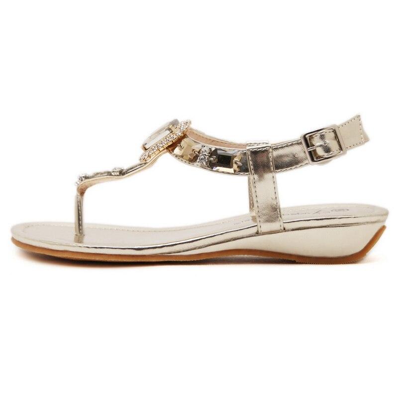 Goud Zilver Twee kleuren Optionele Dames Sandalen Schoenen met Mode - Damesschoenen - Foto 3