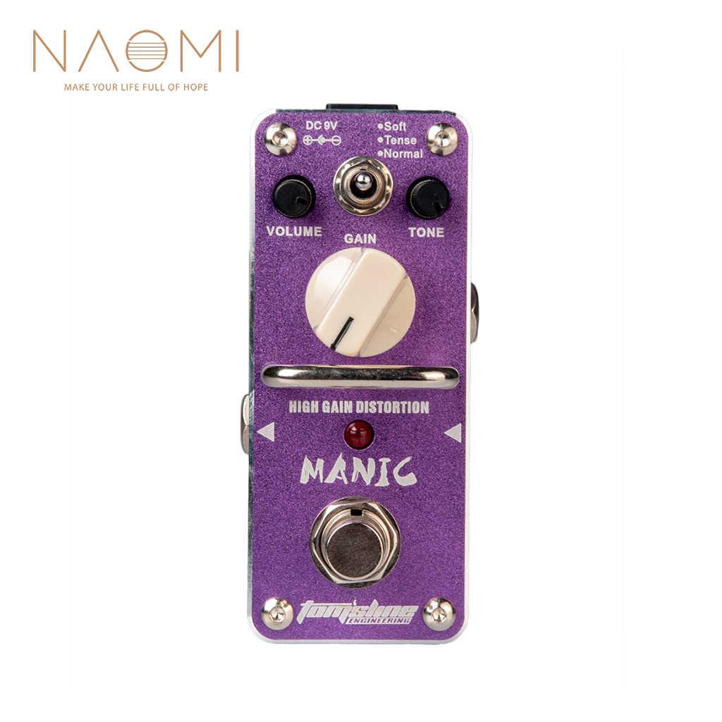 نعومي رائحة تأثير الغيتار دواسة AMC-3 الهوس مكاسب عالية تشويه البسيطة واحدة الغيتار تأثير الدواسة ث/صحيح الالتفافية