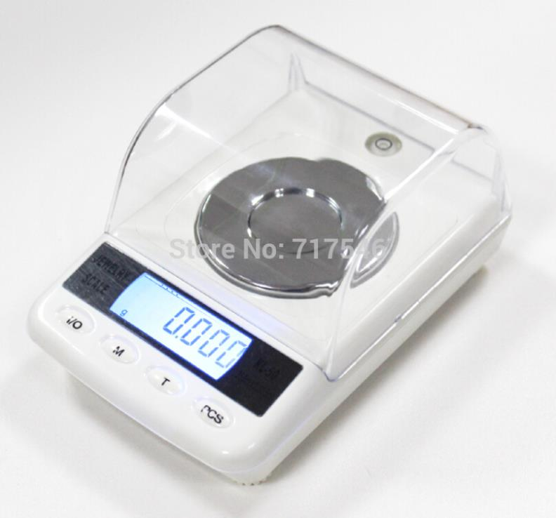 Hot sale 50g 0.001g High Precision Digital Electronic Diamond Jewelry Gem Carat Scales Counting Function Portable Weight Balance  цены