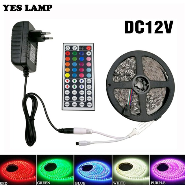 5M 10M 15M led Strip 60LED IP65 Waterproof RGB Led Strip Light 12V 2A SMD5050 Flexible Strip Tape Light Cable Smart Pixel Strip