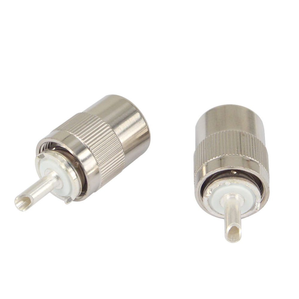 10-Pack UHF PL-259 Male Solder Type RF Connectors for RG8//RG213//LMR400 Coax Wire