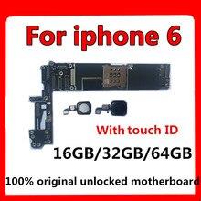16 Гб/32 ГБ/64 ГБ разблокированный для iphone 6 материнская плата с сенсорным ID/без сенсорного ID, для iphone 6 материнская плата