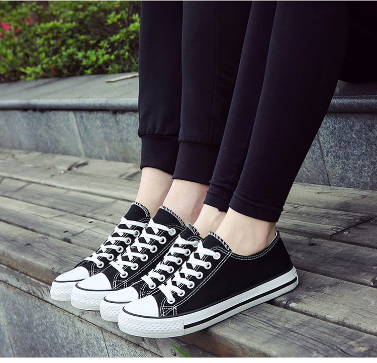 Hellozebra Men Casual Canvas Shoes Classical Lace Up Solid Flats Breathable Board Soft Leather Students Shoes 2016 Autumn New  (20)