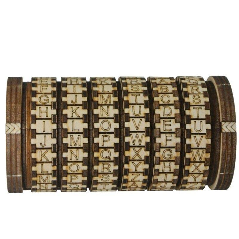 Leonardo Da Vinci serrures en bois Cryptex idées cadeaux cadeau de noël à marier amoureux évasion salle accessoires jouets éducatifs L1749
