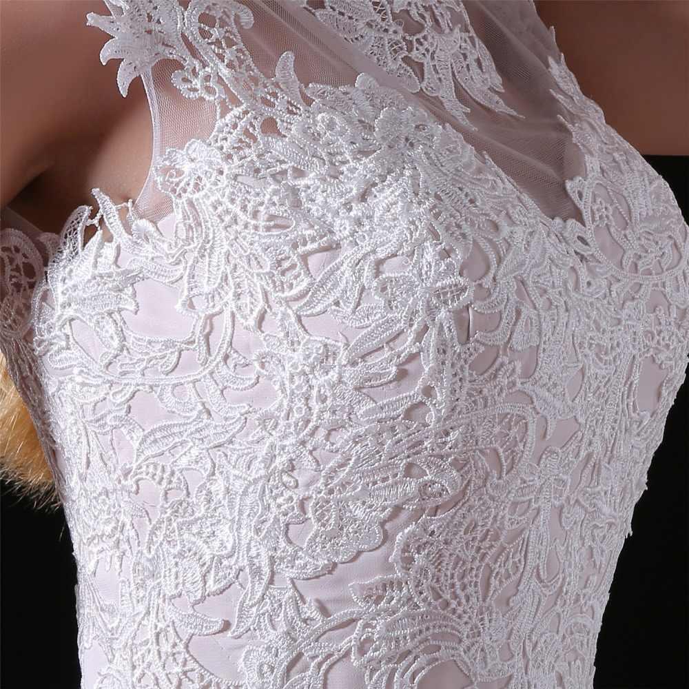 JaneVini 2018 אלגנטי שיפון ארוך שושבינה שמלות עם תחרה אפליקציות ללא שרוולים מקיר לקיר אורך קו מפלגה לנשף רשמיות