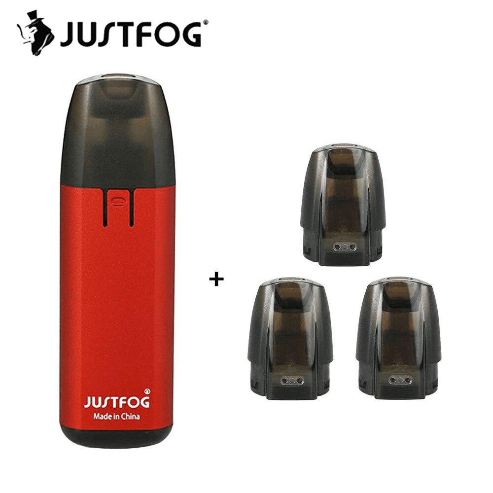 Оригинальный 1,5 мАч JUSTFOG MINIFIT Starter Kit 370 мл E-juice ёмкость W/1.6ohm катушки и 370 мАч батарея и компактный Pod Vaping устройства