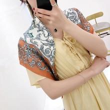 New silk square scarf printed summer small shawl for girl fashionable neckerchiefs women head scarves hair scarf70*70cm