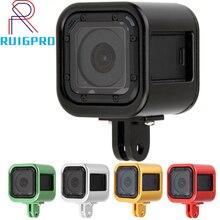 אלומיניום סגסוגת מגן מסגרת מקרה עבור Gopro Hero 4 מפגש פעולה מצלמה מתכת כלוב הר עבור GoPro מושב אביזרים