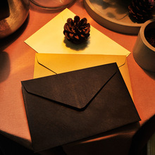 10pcs/lot 11.4*16.2cm Minimalistic Creative Blank Vintage Kraft Paper Envelope Postcard Black