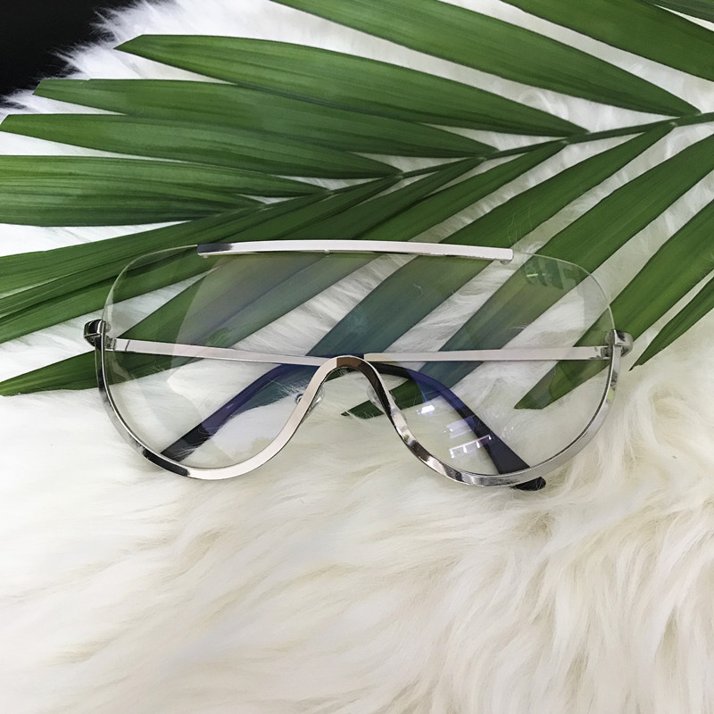 Rimless Gold Clear Sunglasses Men Women Brand Designer Aviator Clear Sunglasses 7