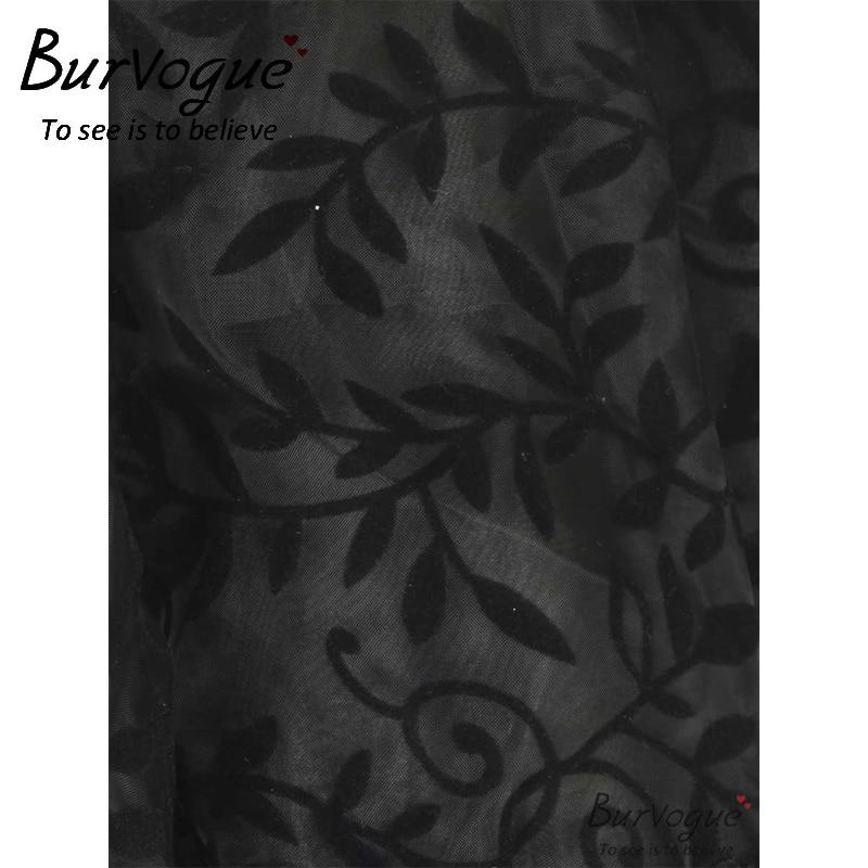 Burvogue New Black Midi Steampunk- ի շրջազգեստ կանանց - Կանացի հագուստ - Լուսանկար 2