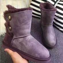 The most comfortable and warm snow boots in 2019, real sheepskin, 100% wool high quality women shoes, free delivery(China)