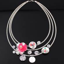 Bonsny yarn flower chain necklace for girls pendant lovely cute style new 2016 spring/summer design woman man jewelry fashion(China)
