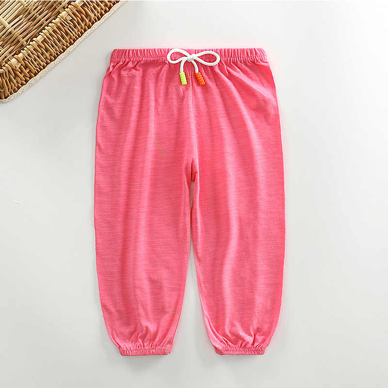 Frühling Sommer Kinder Leggings Jungen Mädchen Dünne Anti Moskito Hosen Candy Farbe Baumwolle Blüte Hosen Baby Pyjama Kleidung