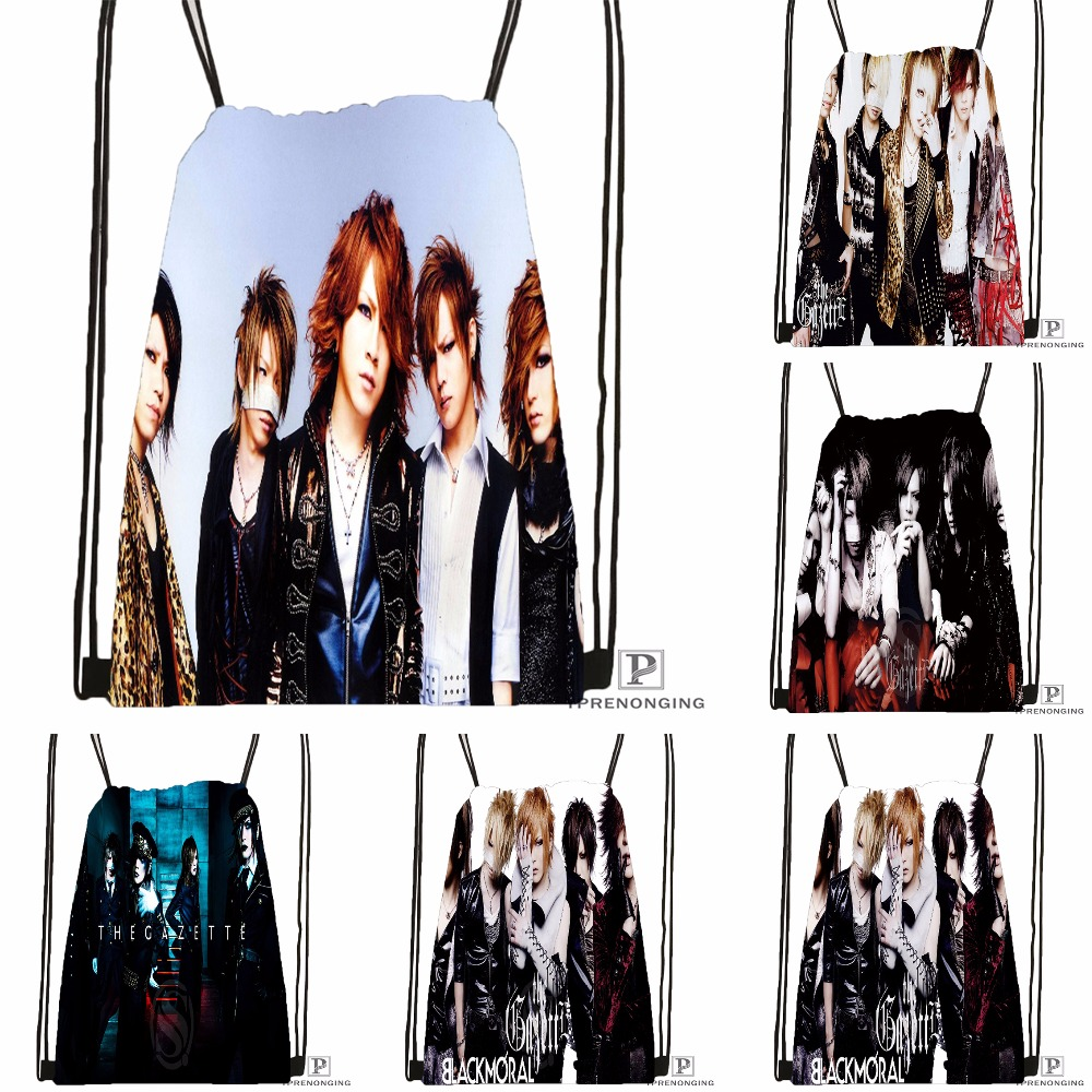 Custom The Gazette By Fxrence Drawstring Backpack Bag For Man Woman Cute Daypack Kids Satchel (Black Back) 31x40cm#180531-01-39