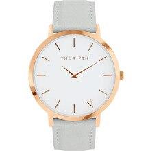 The fifth Quartz Watch Men Women Famous Brand Gold Leather Band Wrist Watches Relojes 2017 Montre Homme Erkek Kol Wristwatch