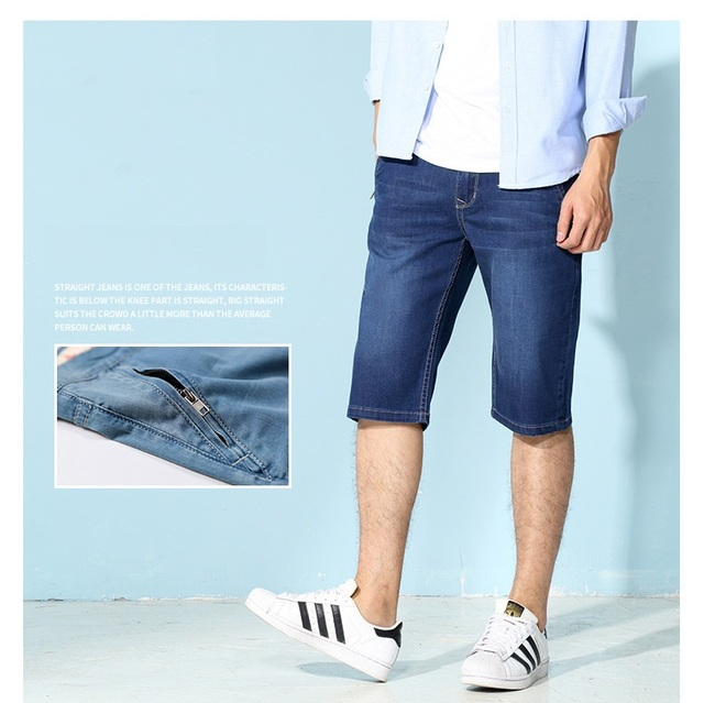 4c969695fef0 Brand Stretch Jeans Shorts Men Casual Short Pants Bermuda Masculina Cotton  Spandex Washed Denim Shorts Male Summer Oversized