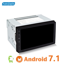 AUTOJIAPIN  7 inch Android 7.1 Quad Core 2 Double Din GPS Navi Car Multimedia player with Touch Screen Built in Wi-Fi Bluetooth