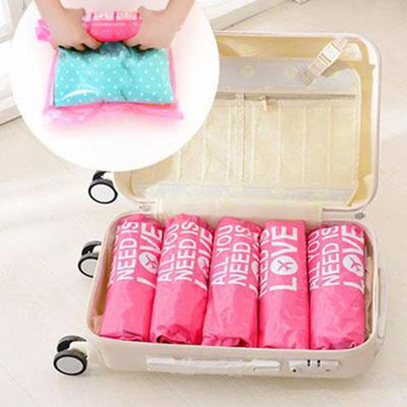 Creative Travel Accessories Woman Portable Letter Manual Waterproof Compression Bag Unisex Security Packing Storage Organizers