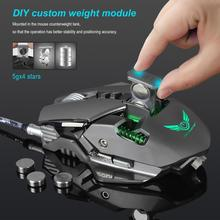 DSstyles ZERODATE 3200 DPI USB Wired Gaming Mouse 7 Programmable Buttons Mechanical Macro Definition Programming Game