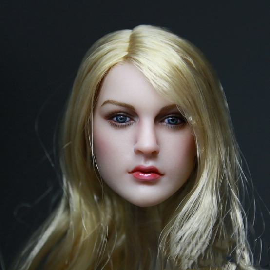 1/6 Female Head Sculpt Beauty European Girl Headplay For 12 PH Jiaodol TTL Action Figure термокружка emsa senator travel cup цвет серый черный 400 мл