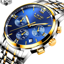 все цены на N LIGE Mens Watches Top Brand Luxury Male Fashion Business Waterproof Quartz Watch Men Stainless Steel Clock Relogio Masculino онлайн