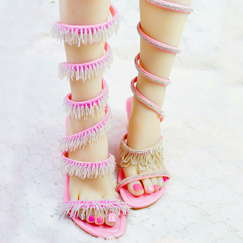79018d7d832d0c Beautiful Women Sandals 2018 Crystal Wedge Heels Summer Dress Shoes  Gladiator Wedding Bridal Shoes Birthday Party Dancing Shoes-in High Heels  from Shoes on ...