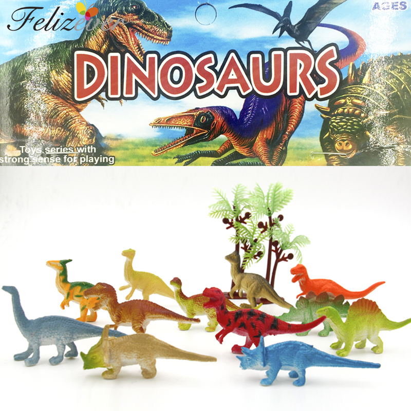 24 հատ հատ 2 դյույմ Mini Colorful Jurassic Dinosaur Toys Kids Dinosaur Party Favoritet Decoration Pinata Filler Boys Տղաների ծննդյան Goody Bag