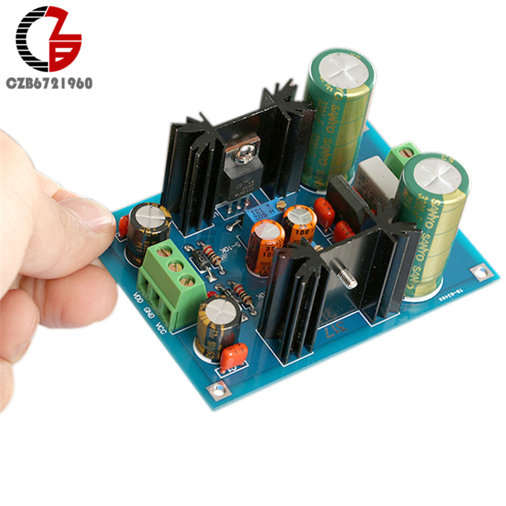 Aiyima Lm317 Lm337 15v 37v Adjustable Dual Voltage Regulator More Circuit About Power Supply Filtering Kits Diy Ac Dc