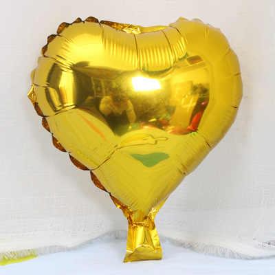 1 pieza de globos de lámina de 10 pulgadas forma de corazón globos de helio para cumpleaños decoración de fiesta de boda Minnie Mouse decoraciones de fiesta